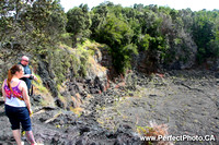 Lava sink hole, Hilo area, Big Island, Hawaii, HI, USA